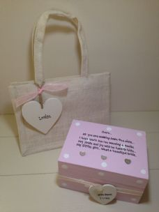 Shabby Personalised Chic Gift For The Bride From Mum Daughter Wedding Day Mother